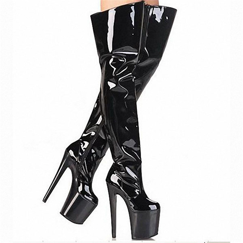 New reach 2018 shoes thigh high boots 20 cm boots sexy gift knee-high boots