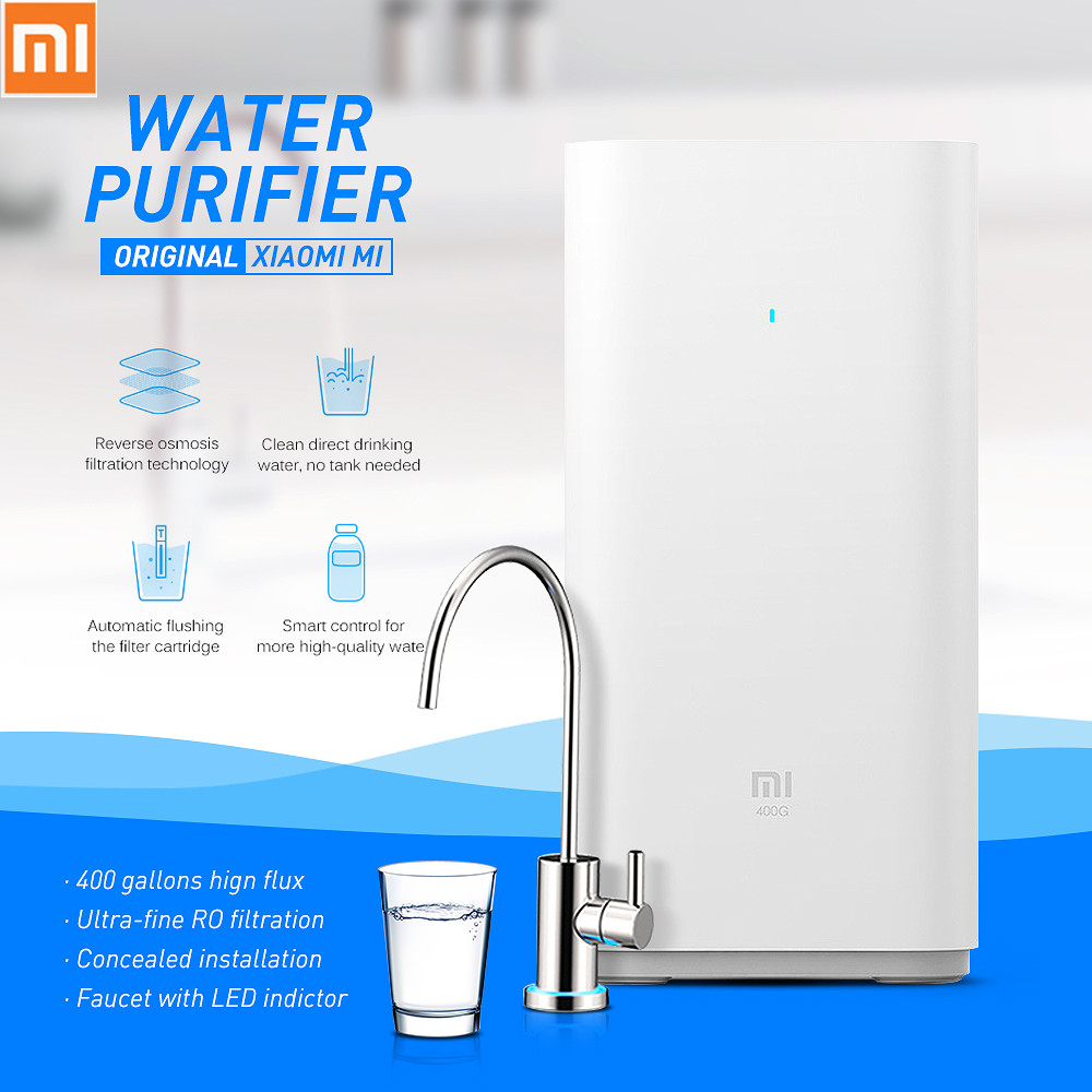 Original Xiaomi Mi Water Purifier Smart pure water Support WIFI Android IOS RO Purification Technology Water Filter For Home xiaomi mi smart water purifier filter with ro purification technology