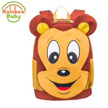 Rainbow Baby Mickey Mouse Kids & Babys Bags Anti Lost School Bags for 2-Eight Years Boys and Girls Bagpack Waterproof Backpack