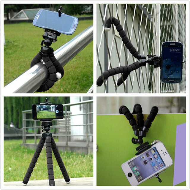 Pop Mobile Sockets Universal Tripod Mount Stand Mobile Phone Holder For Vertex Impress Lion for Samsung J5 J7 A3 A5 2017 Meizu