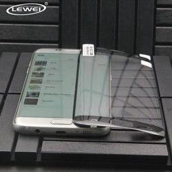 LEWEI 3D 풀 커버 곡선 화면 보호 필름 삼성 갤럭시 S7 가장자리 S6 가장자리 부드러운 애완 동물 (강화 유리)