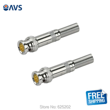 2PCS BNC Male RG-59 Connector for Coaxial Cable, Pair for Sales Free Shipment