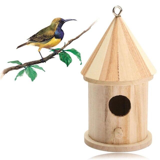 деревянный открытый сад товары для птиц скворечник дом гнездо питания новый интимные аксессуары In клетки для птиц и принадлежности From дом и сад On