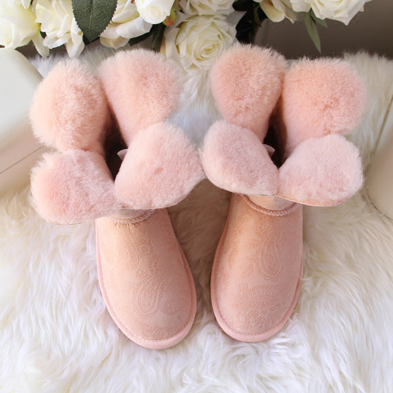 Wholesale / retail GRWG brand Sheepskin Women's Winter Classic Genuine Leather Snow Boots For Women Warm Shoes Free shipping цена