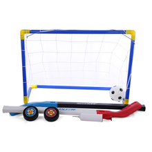 2019 New 2 In 1 Kids Sports Soccer & Ice Hockey Goals With Balls And Pump Practice Scrimmage Game For Children Running ddc3 2 pump with ice top and barrow pcb