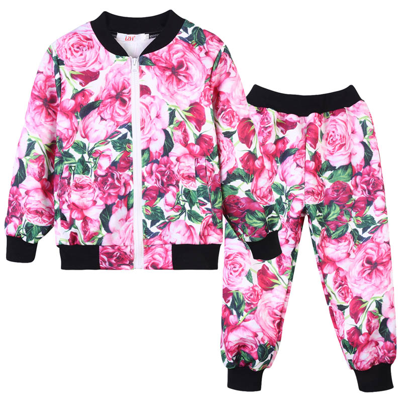 2018 Autumn Winter Baby Girls Clothes Coats+Pants Kids Sports Suit For Girls Tracksuits Children Clothing Set 2 7 9 10 12 Years