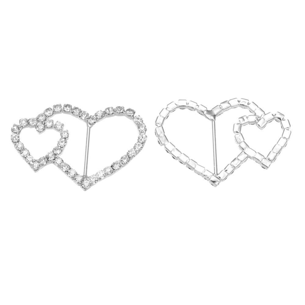 ヾ(^▽^)ノFree shipping wholesale double heart crystal rhinestone ...