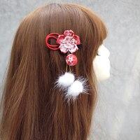 Hand made haarspeld doek haar clip haarspeldjes Japanse kimono cheongsam stijl anime cosplay accessoires bloem bal