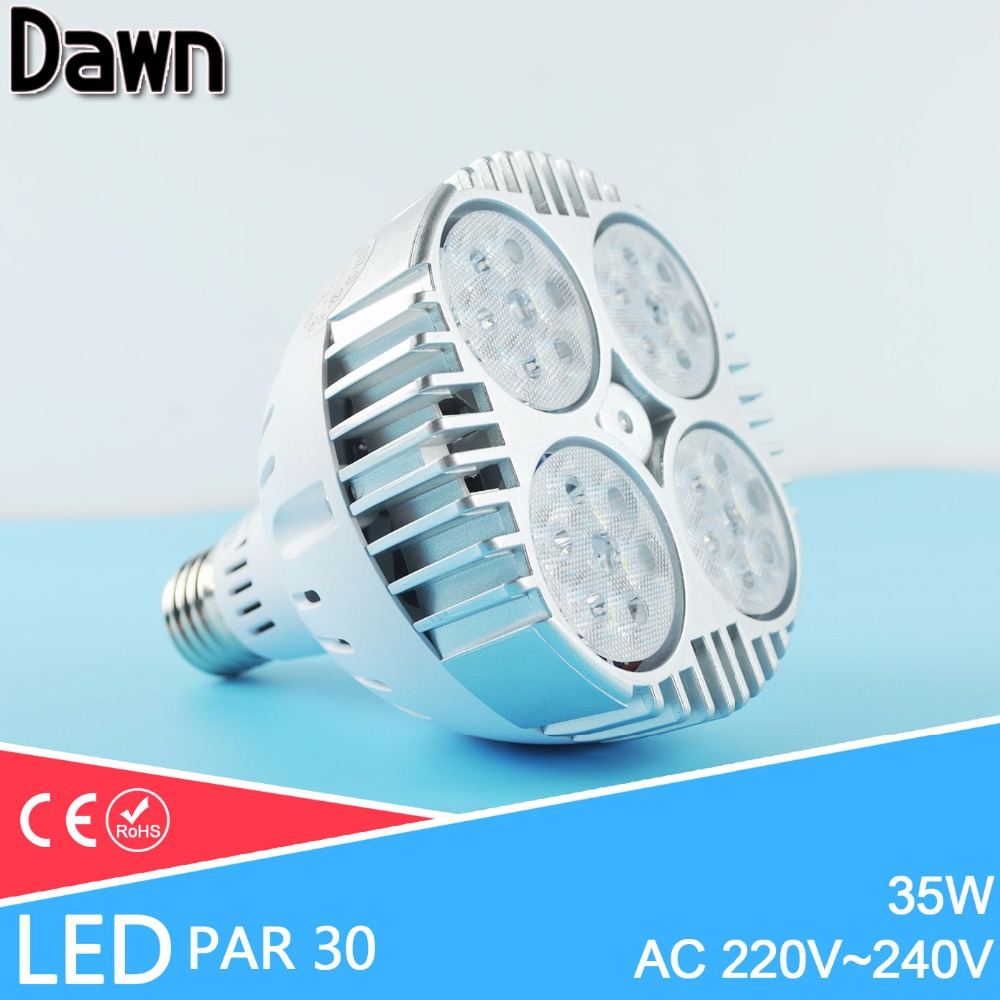 Super Bright Led E27 35W led par30 spotlight Lamp bulb AC220 240V Led Lighting Cool White/Warm white/Nature white Home lighting 5pcs e27 led bulb 2w 4w 6w vintage cold white warm white edison lamp g45 led filament decorative bulb ac 220v 240v