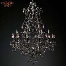 19th C. Rococo lámpara colgante de hierro y cristal para sala de estar y comedor, iluminación de araña, moderna, Retro, arañas LED