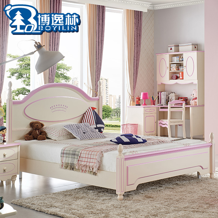 Girls bed 12 m 15 Korean princess bed children\'s furniture ...