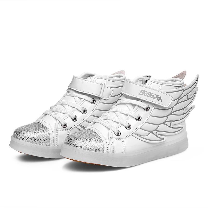 2016 latest fall Led  light  emitting  children ' s shoes usb flash LED luminous shoes boys and girls casual shoes