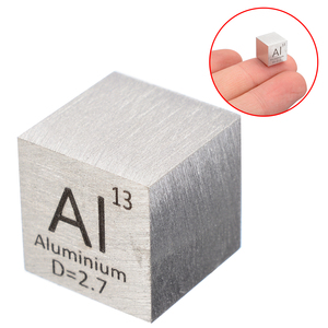 Image 2 - 1pcs 99.99% High Purity Aluminum Alloy Element Cube 10mm Metal Density Cubes Carved Element Periodic Table Cube