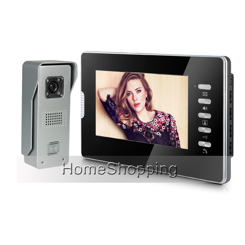 Brand New Home Security Wired 7 inch Color Video Door Phone Intercom System 1 Monitor + 1 Waterproof Door Camera FREE SHIPPING free shipping new 7 color door monitor video intercom home door phone recorder system waterproof rain cover 8g sd e lock