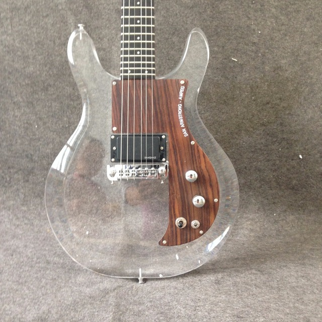 New product Dan Acrylic Electric Guitar G15-03 Crystal Electric Guitar High Quality  Rosewood Pickguard 3
