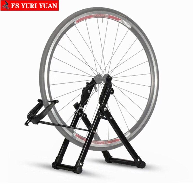 Folding Bicycle repair tool Universal Flexible Bicycle Bike Wheel Hub Repair Stand Kick stand for Parking Holder Bicycle Repair Tools Sports & Entertainment - title=