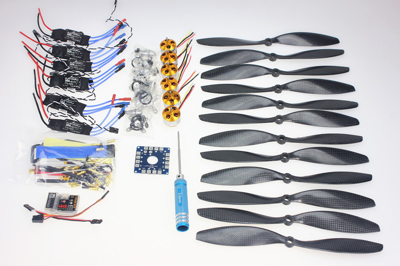 F02015-C 6 Axis Foldable Rack RC Quadcopter Kit with QQ Super Flight Control+1000KV Brushless Motor + 10x4.7 Propeller + 30A ESC f02015 f 6 axis foldable rack rc quadcopter kit with kk v2 3 circuit board 1000kv brushless motor 10x4 7 propeller 30a esc