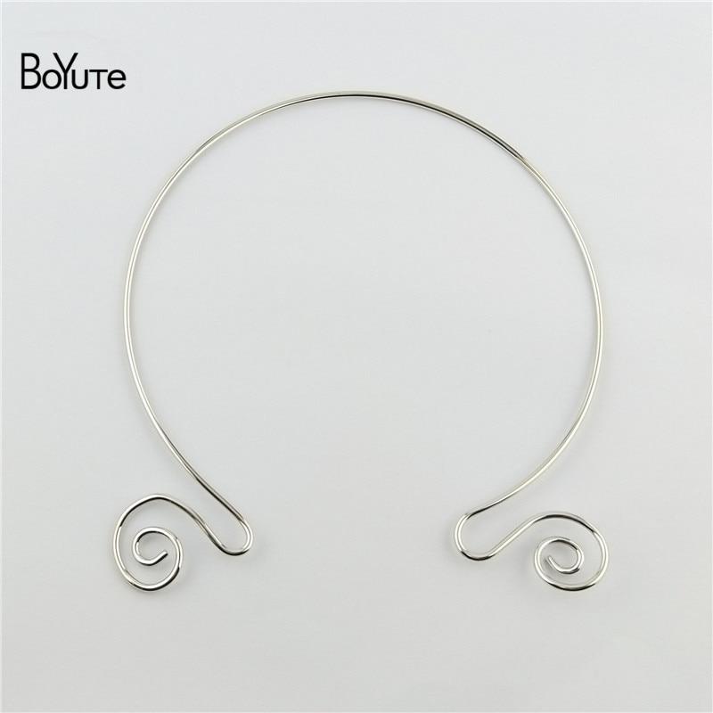 BoYuTe 1552MM Metal Copper Women Wreath Collar Choker Necklace Diy Jewelry Accessories (8)