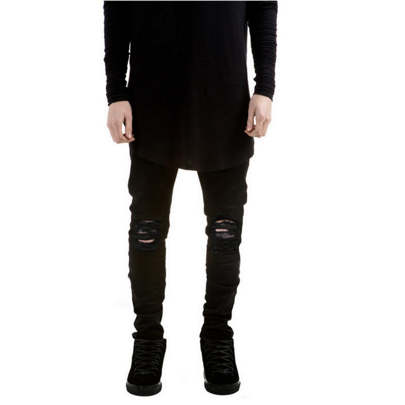 Aliexpress.com : Buy 2017 New Black Ripped Jeans Men With Holes ...