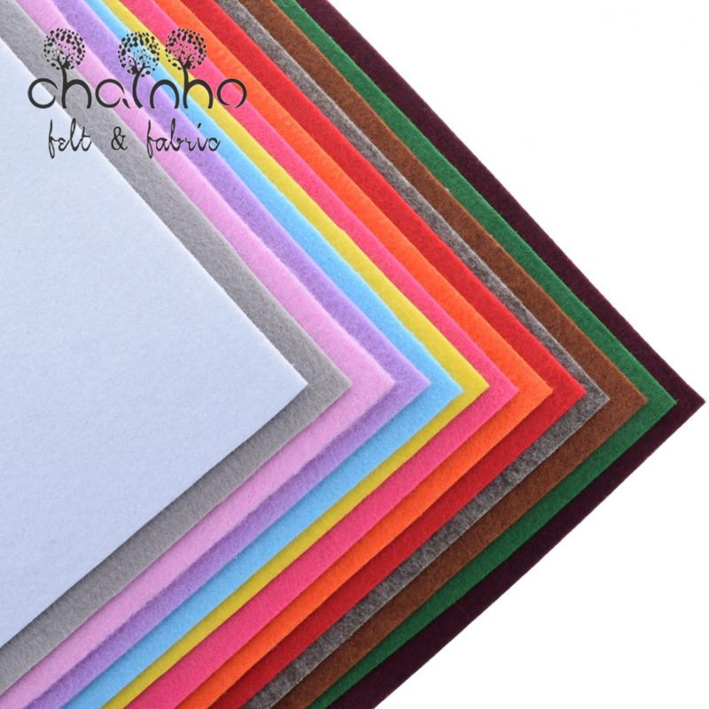 Non Woven Fabric 3mm Thickness Polyester Thick Felt Of Home Decoration Pattern Bundle For Sewing Dolls Crafts 13pcs 30x30cm