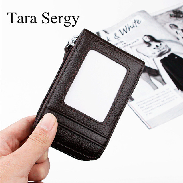 Tara Sergy small wallets leather women credit card bags holder Leisure card bag for women casual money bag with Multi-card bit