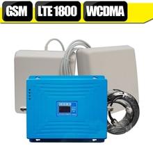 2G 3G 4G LTE 1800 mhz Tri-Bande Mobile Booster GSM 900 mhz DCS 1800 mhz WCDMA 2100 mhz Répéteur Antenne Ensemble Repetidor Sinal Celular