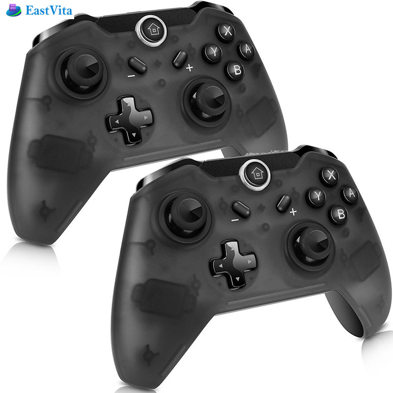 EastVita 1 pc/2 pcs Bluetooth Sans Fil Gamepad Joypad À Distance Pro Contrôleur pour Nintend Commutateur Console PC Gamepad Joystick rr3