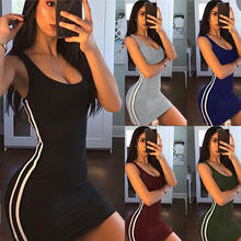 ZSIIBO Sexy Women Summer Dress Bandage Bodycon Sleeveless Evening Party Club Short Mini Dress 2019 Fashion Women Clothes(China)