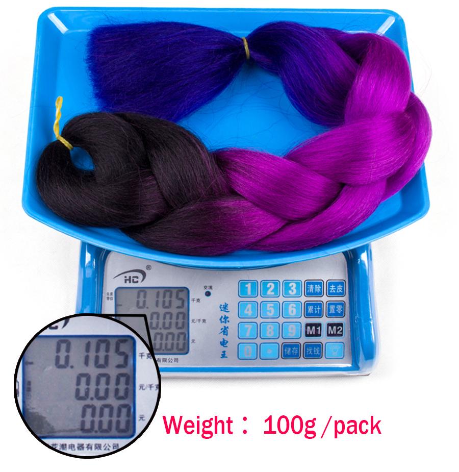 элегантный музы волос продукты 24 дюйм два тона синтетических канекалон волокна ломбер Джамбо крутить крючком, плетение прическа 100 г/шт