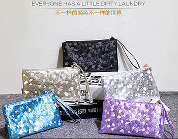 Sparkling Sequins New Fashion Clutch Evening Party Bag Handbag WomenTote Purse Clutches