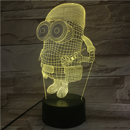 Despicable Me 2 Minions Nightlight for Children's Bedroom Decorative 3d Led Night Lamp Unique Kids Led Night Light Boys Gift