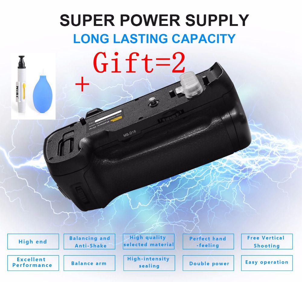 Aperto Da Bateria do Pixel Vertax MB-D18 trabalhar com EN-EL15a/D850 de equilíbrio e anti-shake Para Nikon EN-EL15 bateria Da Câmera DSLR