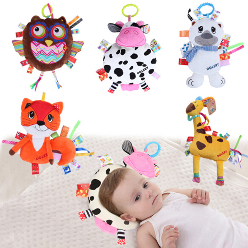 Newborn Crib Bed Stroller Car Hanging Toy Infant Baby Shake Ring Rattles Soft Animal Hanging Rattle Early Educational Baby Toys