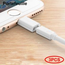 Portefeuille 3PCS Micro USB to 8pin Charger Cable Adapter Converter for iPhone 7 5 6 S 6s 8 plus 5S 5C SE X 10 iPad iPod Charge(China)