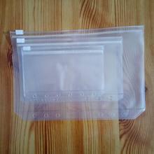 500 шт. A5/A6/A7 папка для документов Стандартный 6 отверстий прозрачный ПВХ записная книжка С ПЕРЕПЛЕТОМ с сумка с изображением листа с собственн-стиле на молнии
