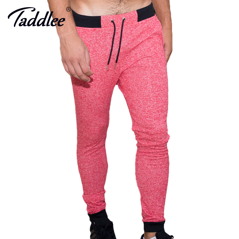 Taddlee Brand Men Legging Full Length Long Pants Sweetpants Jogger Active Sports Running Gym Gasp Trousers Skinny Bottoms Cotton