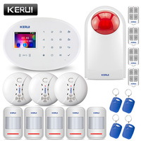 KERUI 2.4G WiFi GSM SIM RFID Security Alarm System Home Garden Villa Burglar Alarm Kit English/Russian/ German /Spanish/Italian