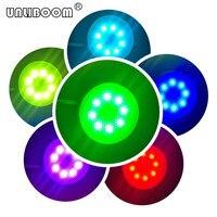 1 шт. светодиодный светильник GX53 светодиодная лампа RGB 220 В/110 В AC кабинет RGB GX53 светодиодная лампа 4 Вт GX53 лампа с пультом дистанционного управ...