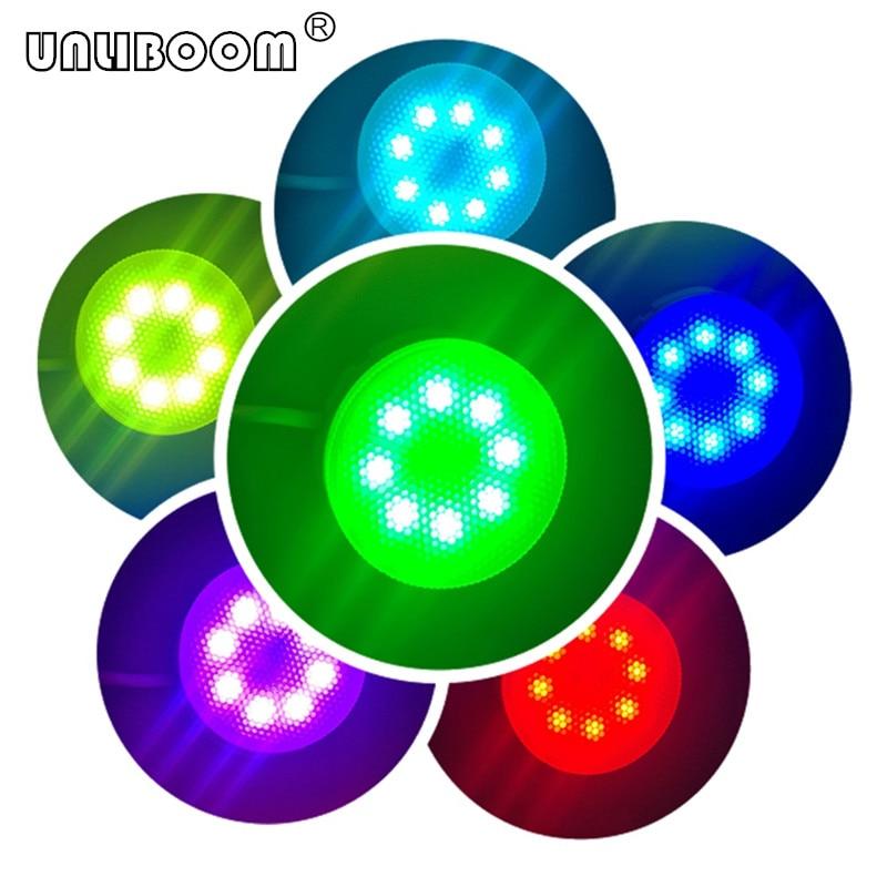 Işıklar ve Aydınlatma'ten LED Ampüller ve Tüpler'de 1 adet Led Downlight GX53 Led ışık RGB 220 V/110 V AC kabine RGB GX53 Led ampul 4W GX53 Lamba Uzaktan RGB GX53 Led dolap ışığı title=