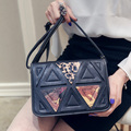 Бесплатная доставка, 2016 новые сумки, мода Корейский сумка, хит цвет сшивание лоскут, ретро мини женщина плеча сумку.