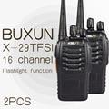 2 PCS BUXUN X-29TFSI Walkie Talkie 5 W Handheld Pofung UHF 5 W 16CH 400-470 MHz em Dois sentidos Radio CB portátil