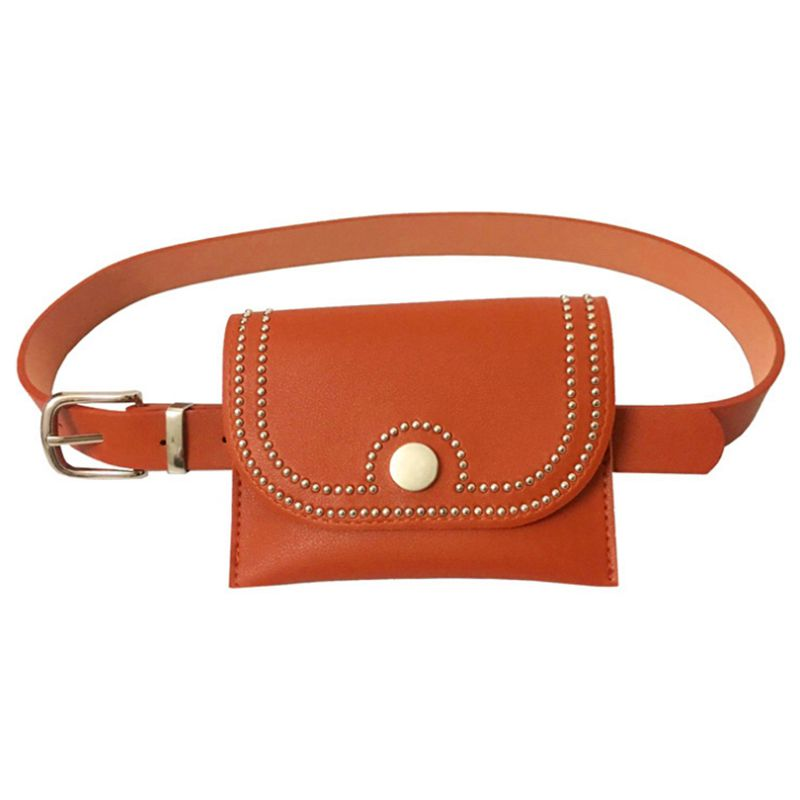 Removable-Belt Purse Cell-Phone-Bag Vertical Women with MINI Travel Rivets-Fanny-Pack