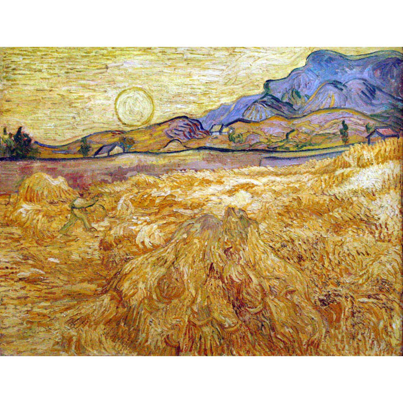 hand painted high quality Watch the wheat fields landscape art abstract Canvas painting Vincent Willem van Gogh Impressionism