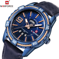 2018 NAVIFORCE Brand Men S Fashion Casual Sport Watches Waterproof Leather Quartz Watch Man Military Hour