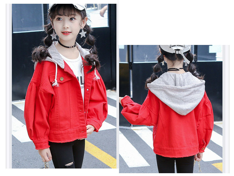 sports outwears coats for big girls clothing long sleeve red green hooded patchwork tops kids jackets active baby girl clothes (11)