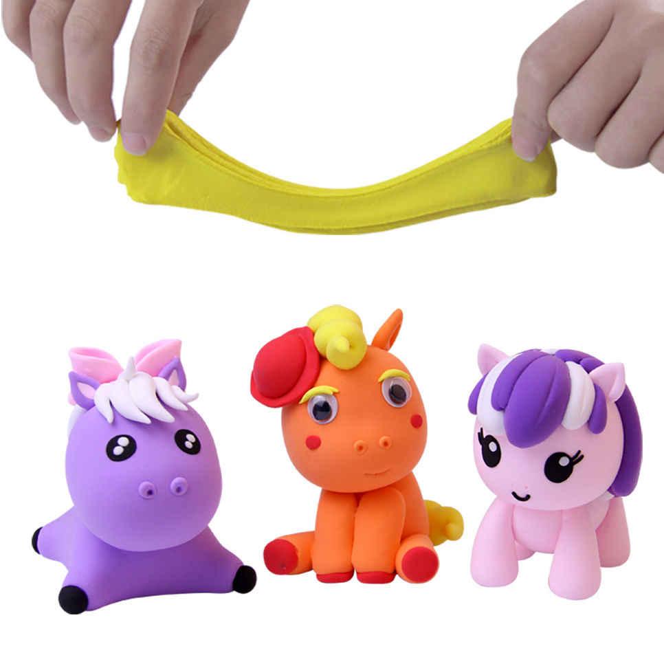 24 Цвета супер свет глины Воздух сухой Пластилин Поделочная глина Playdough Soft Play Тесто Развивающие игрушки для детей подарок 1200 г/ 42.32 унц.