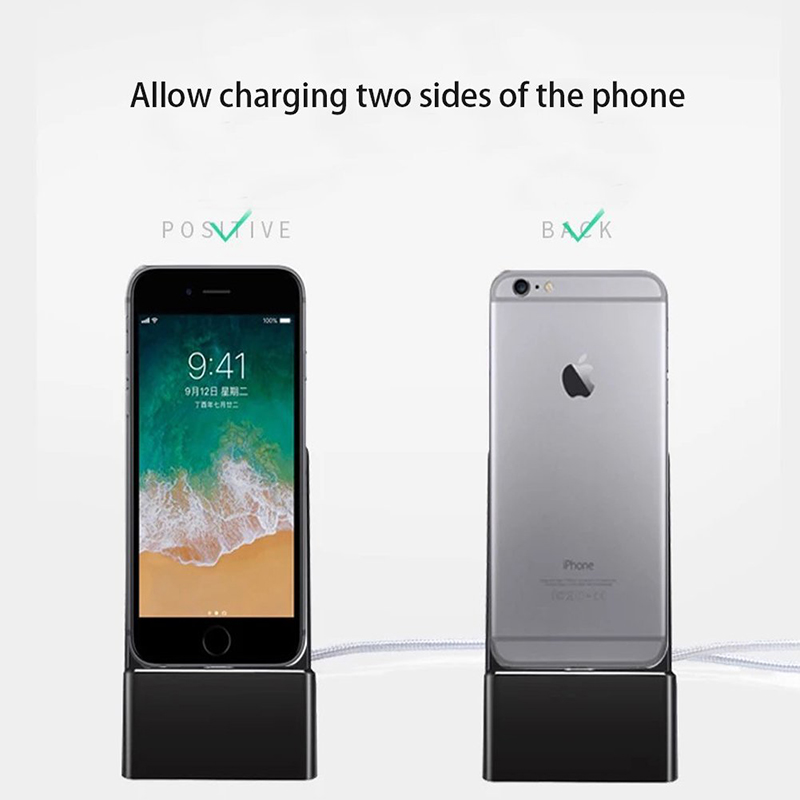 Suntaiho Phone Holder Magnetic Cable Dock Desktop for iphone x for vivo v9 charging  iOS Type c micro USB 3in1 for samsung S9