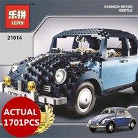 AA LEPIN 21014 1707Pcs Classic Beetle Model car Building Kits Blocks Bricks for Holiday Toys 10187 birthday gifts