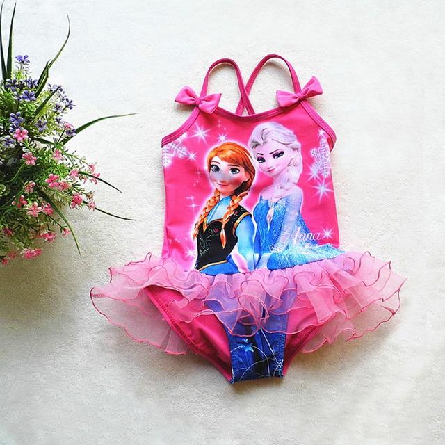 8bc849f176 New 2016 One Piece Girls Swimwear Elsa Children Cartoon Swimsuit For Baby  Kids Swim Skirt Bathing Suit Beachwear SW095 110-CGR3