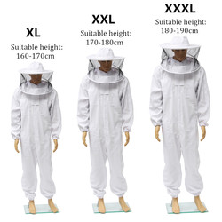 Beekeepers Full Body Beekeeping Clothing Professional Bee Protection Beekeeping Suit Safty Veil Hat Dress All Body Equipment